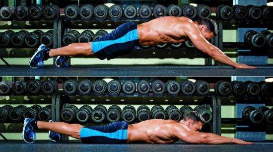 Отжимания супермена для мышц пресса