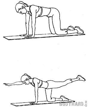 Упражнение на корсет спины